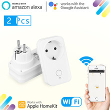 Timethinker 2 Pcs Smart WIFI Soket AU US Uni Eropa Plug untuk Apple Homekit Alexa Google Home Aplikasi Siri Suara Remote interval Timer Modul(China)