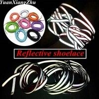 1 paire 3M lacets réfléchissants Sneaker Shoestrings course lacet unisexe mode chaussures lacets lumineux brillant lacets