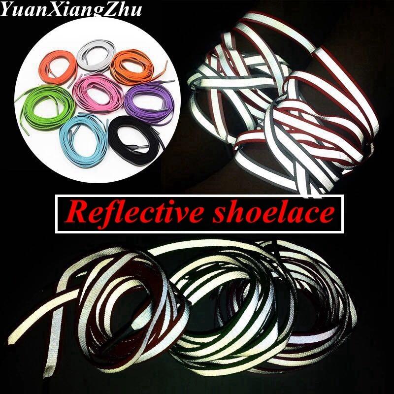 1Pair 3M Reflective Shoelaces Sneaker Shoestrings Running Shoelace Unisex Fashion Shoe Laces Luminous Glowing Shoelaces