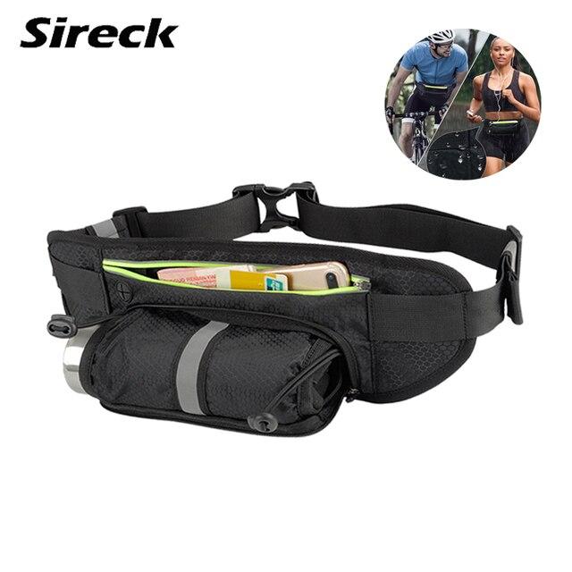 Sireck Running Bag Women Men Running Belt For Up To 6.6'' phone Waterproof Reflective Cycling Water bottle Holder Gym Sport Bag