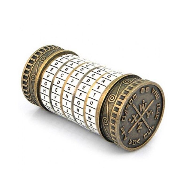 Da Vinci Code serrure éducatifs Puzzle jouets Cryptex serrures lettre mot de passe évasion chambre accessoires Mini jouet pour saint valentin cadeau