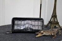 Мужчины Роскошные Качество Подлинная/Настоящее Крокодиловой Кожи Кожа Мужчины Кошельки + Мужчины Сцепления Крокодиловой кожи длинный кред