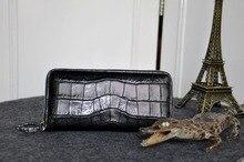 Men Luxury Quality Genuine/Real Crocodile Skin Leather Men Wallets + Men CLutch Alligator skin long credit card holder