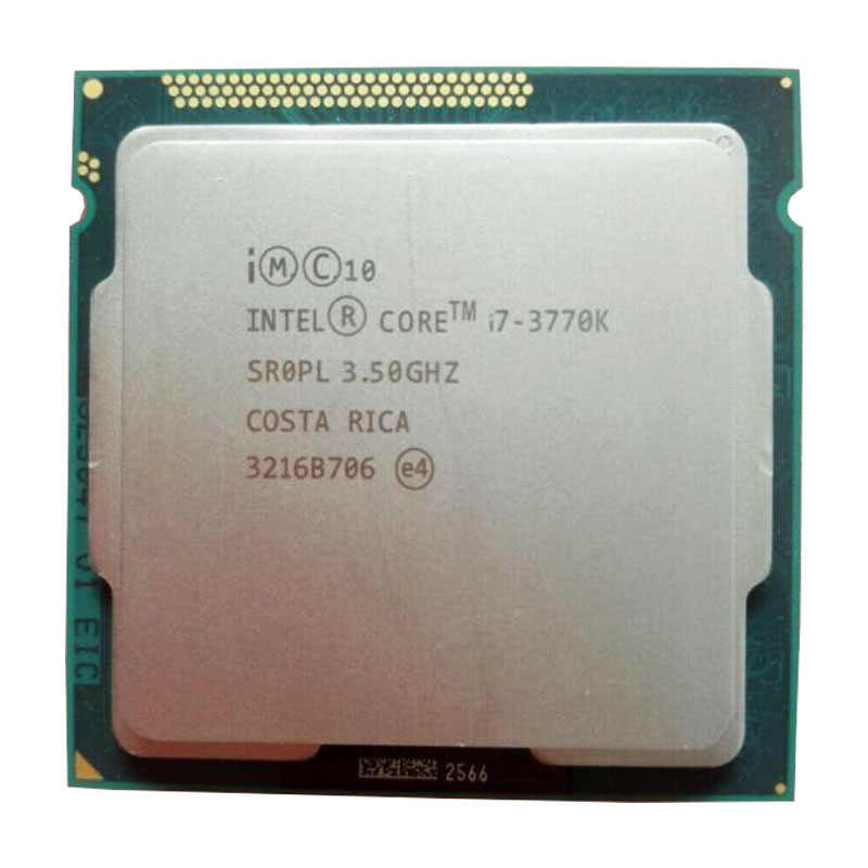Intel Core I7 3770 K 3.5 GHz Quad-Core 8 MB Cache 77 W Desktop LGA 1155 Prosesor CPU dengan HD Grafis 4000 TDP 77 W Desktop