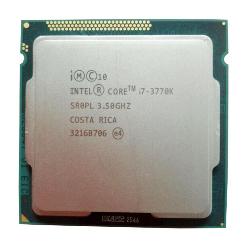 Intel Core i7 3770K 3.5GHz czterordzeniowy 8MB pamięci podręcznej 77W pulpit LGA 1155 procesor cpu z grafiką HD 4000 TDP 77W pulpit