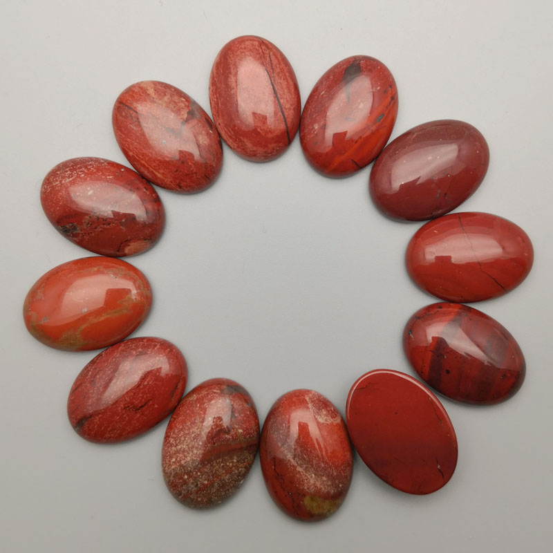 fashion natural red stone cab cabochon 20PC 25x18MM Oval shape Beads for jewelry making charms Ring accessories Free shipping