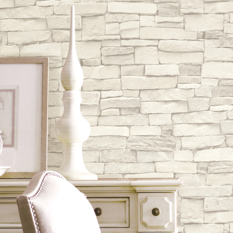 Vintage brick wallpaper 3d white black modern papel parede for Waterproof wallpaper for home