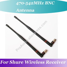 2Pair (4pcs) OEM 10.1 BNC  Rubber Antenna for SHURE UHF Wireless Receiver 470MHz-542MHz