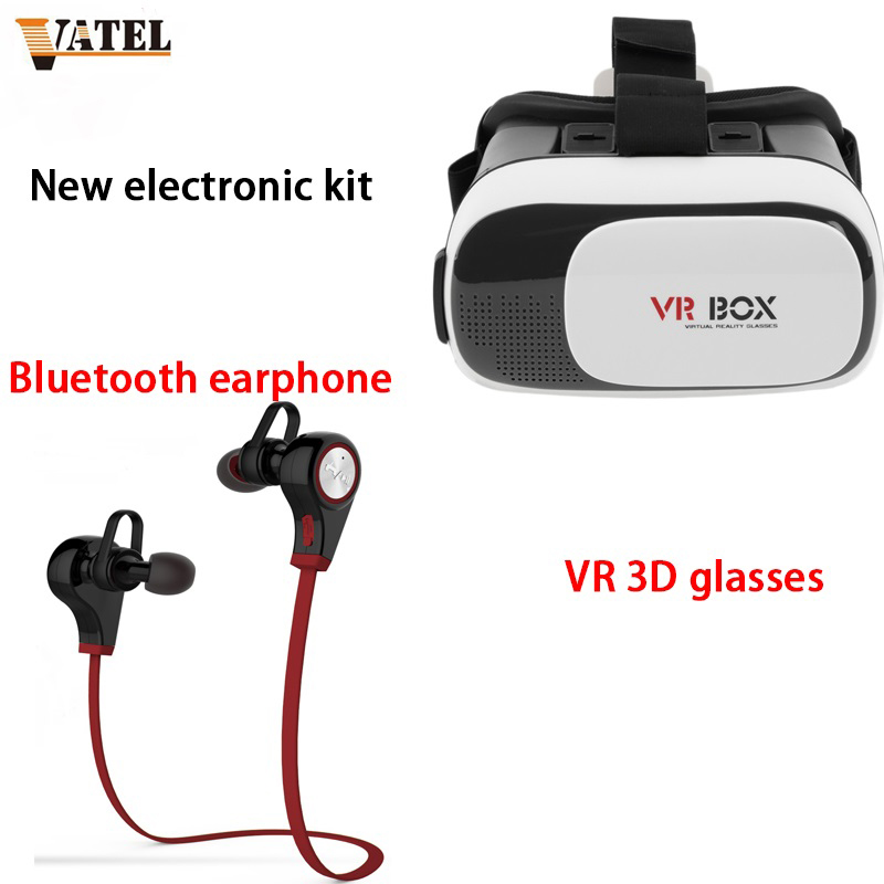 <font><b>VR</b></font> <font><b>Virtual</b></font> <font><b>Reality</b></font> 3D <font><b>Glasses</b></font> For 3.5 - 6.0 inch Smartphone Q9 Mini Wireless <font><b>headset</b></font> V4.1 Stereo Microphone MobileS Calling