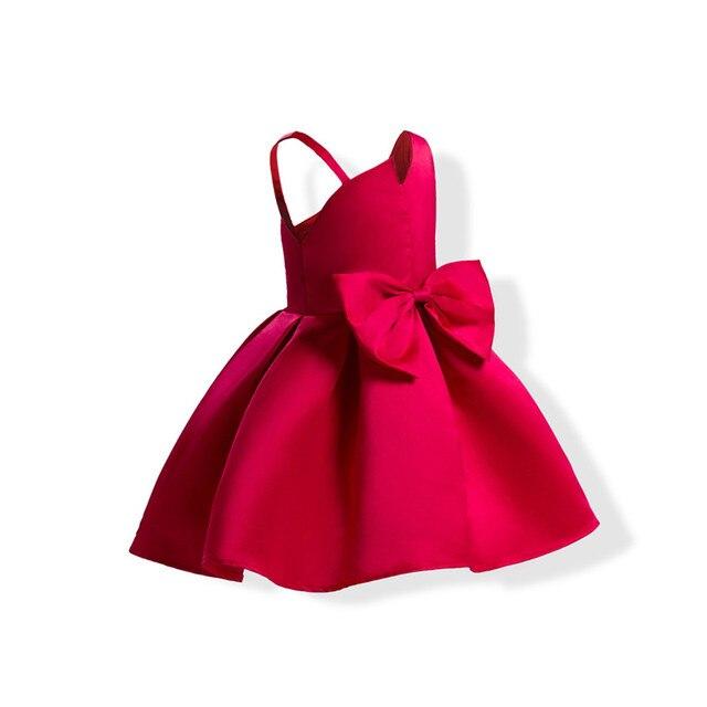 06f71b1caa6 Vestidos para niñas 2-10 años disfraz de princesa rojo azul lazo flor niña  vestido