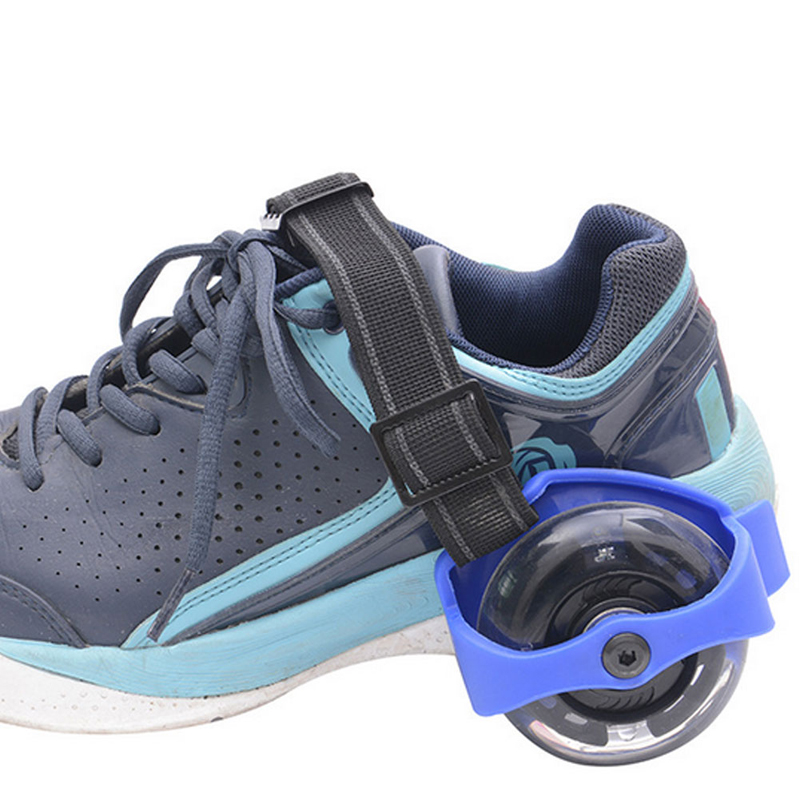Children Wheel Heel Roller Light Adjustable Skates Kid Falsh Blade Shoe Strap