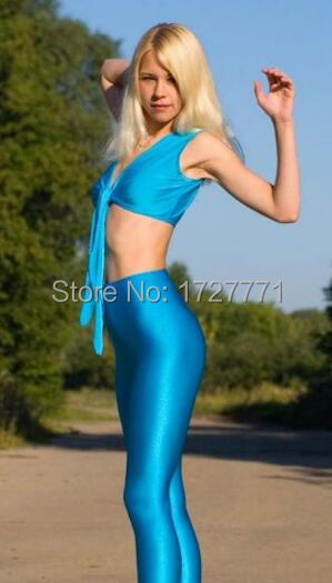 LS51 Shiny Lycra Spandex Opaque Tights Unisex original Fetish Zentai font b Leggings b font