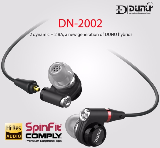 DUNU DN2002 HiFi Inner-ear Earphone 2BA+2Dynamic Hybrid 4 Driver IEM  Earphones with MMCX Connector DN-2002  DN 2002 TOPSOUND 2