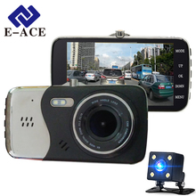 E-ACE авто видеорегистратор Камера двумя объективами Full HD 1080 P Автомобильный видеорегистратор ночного видения парковка движения автомобиля registratory тире cam