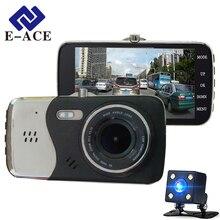 E-ace auto aparat z dwoma obiektywami full hd 1080 p samochód dvr video recorder motion night vision parking samochodów registratory dash cam