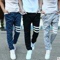 Nuevo 2016 Otoño cintura elástica pantalones casuales pantalones de salud masculina Lager tamaño pantalones largos masculinos pantalones harén pantalones Hombres TA340