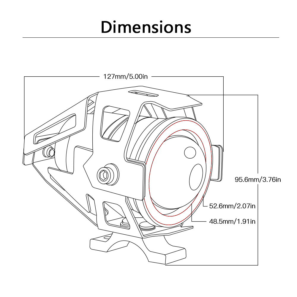 medium resolution of 12v motorcycle headlight driving spot head lamp for suzuki gsxr 600 k4 gsxr 750 wiring diagram