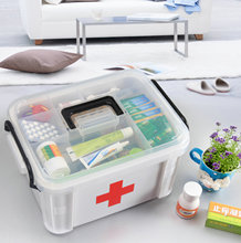 Emergency Kit Health Care Portable Large Capacity Organizer Plastic Box Home First Aid Kit Medicine Container 24cm*17.5cm*14cm(China)