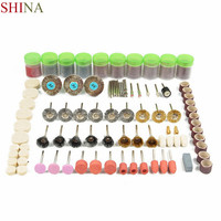 Shina 350PCS Steel Copper Sand Diamond Set Rotary Tool Accessories Electric Grinding Accessories With Disc Polishing Wheels Bags