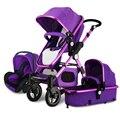Busybaby bebé suspensión cochecito paisaje de alta puede sentarse y acostarse portátil plegable BB niños bebés cesta