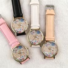 Дешевые Часы Для Женщин Vogue НАМАСТЕ Письма Печати Кварцевые Часы Мужчины Платье Часы Часы Relogio Feminino Оптовая Montre