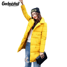 Geckoistail New Fashion Winter Women Jacket Parka Coat Loose Plus Size Thicker Warm Down Cotton Womens Casual Parkas Outerwear