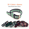 High Quality 18MM 20MM Nato Strap Rose Gold Buckle Nylon Straps Watch Band Watch Strap 20 Colors Choose Strap for Hours Belts