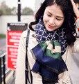 Европа и соединенные Штаты дикий Lingge полосатый шерстяной шарф женщины теплый двусторонняя длинный шарф, шаль