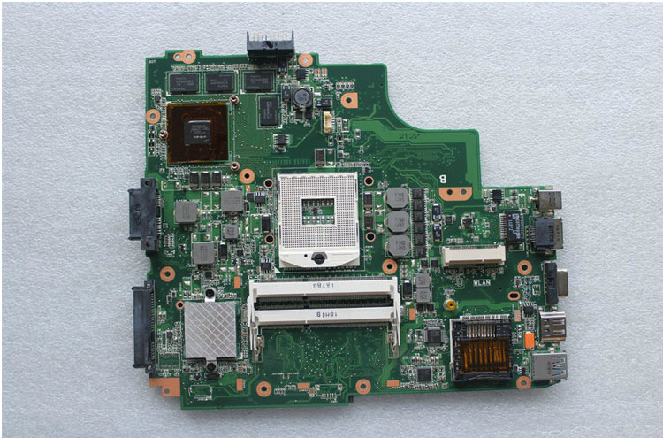 Free shipping,original laptop motherboard for ASUS K52JV mainboard REV:2.2 Nvidia GT540M 2GB for asus m50sr laptop motherboard m50vm rev 2 0 motherboards 100% tested free shipping