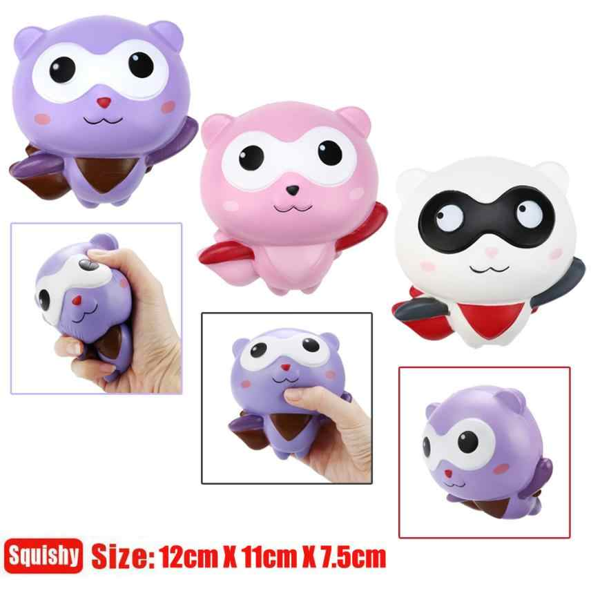10cm Cute Panda Man Cartoon Squishy Charms Milk Bag Toy Slow Rising for Children Adults Relieves Stress Anxiety Cabinet Decor