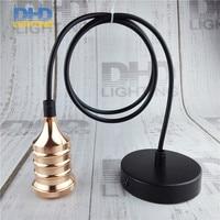 Light Copper Industrial Retro Edison Bulb Lamp Pendant Vintage Loft Antique Fabric Wire DIY E27 Art