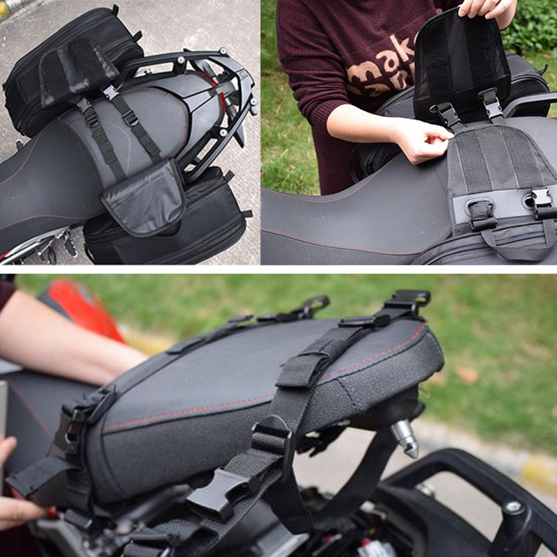 Image 5 - new High Quality Waterproof Moto Tail Luggage Suitcase Saddle Bag Motorcycle Side Helmet Riding Travel Bags With Rain Cover