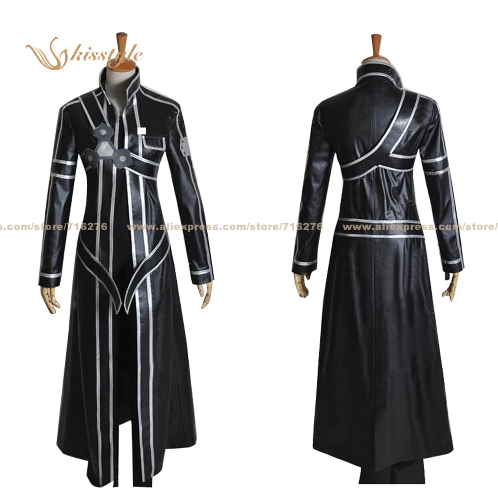 Kisstyle Fashion Sword Art Online Sao Kirito Kazuto Kirigaya New Uniform Cos Clothing Cosplay