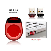 Fashion USB Flash Drive USB 2.0 Super Mini Red Pendrive 4GB 8GB 16GB 32GB 64GB Memory Stick High Speed Small Pen Drive Hot Sale(China)