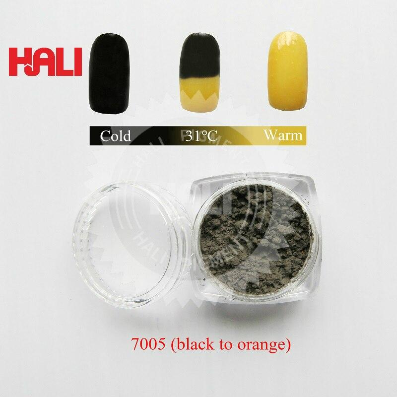 thermochromic pigment temperature sensitive pigment thermochromic powder color black to orange activated temperature 31 celsius