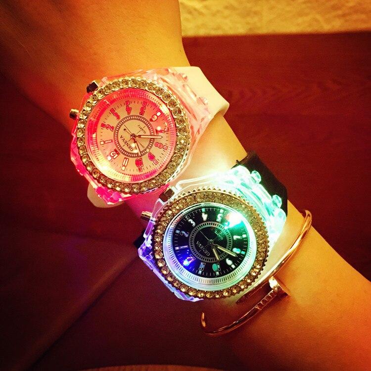 Colorful Women's Watch Diamond Watch Led Sport Mode Electronic Watch Reloj Deportivo For Mujahideen C50