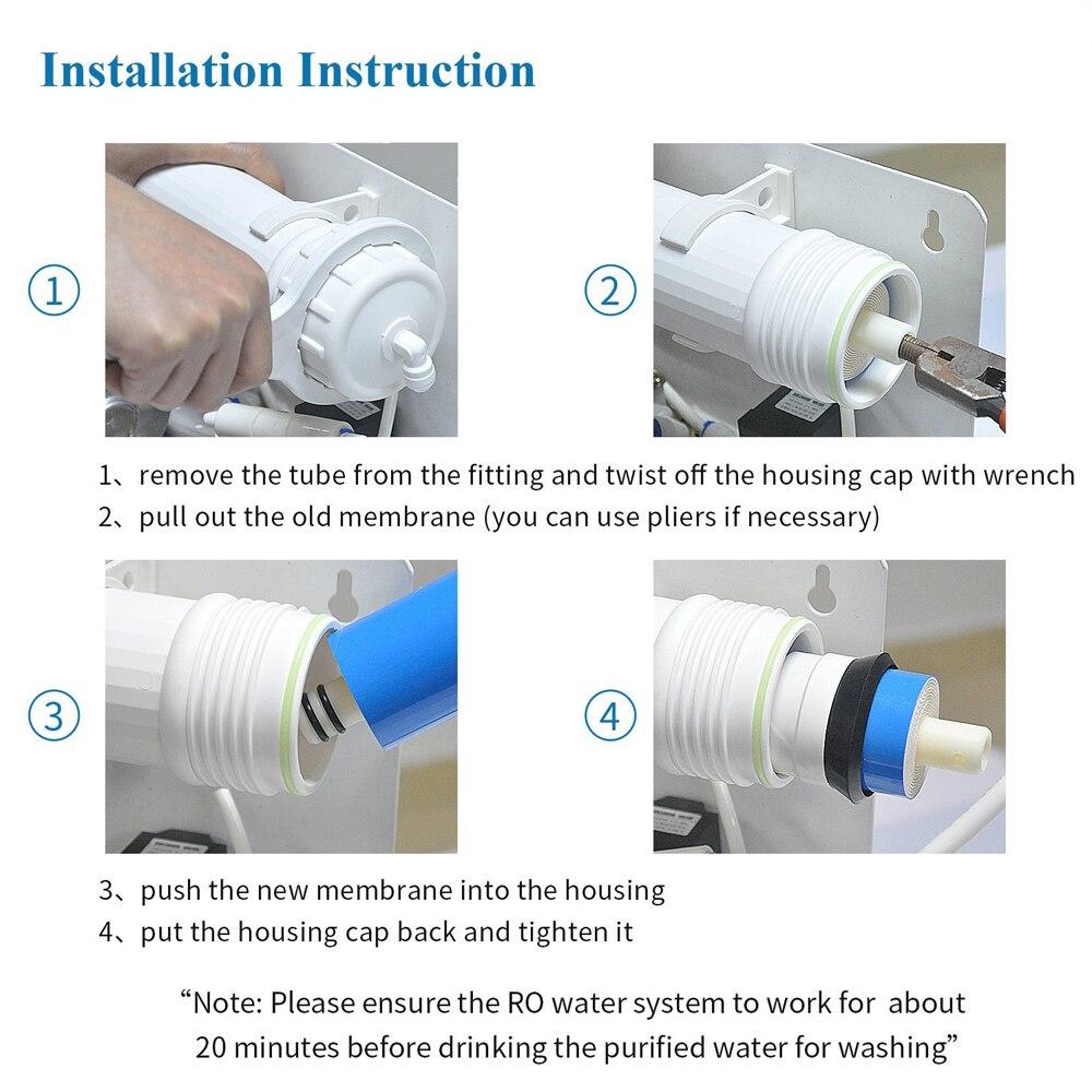 Image 4 - Vontron ULP1812 75 de ósmosis inversa 75GPD membrana RO reemplazo Universal Compatible RO se adapta a purificador de filtro de agua residencialFiltros de agua   -