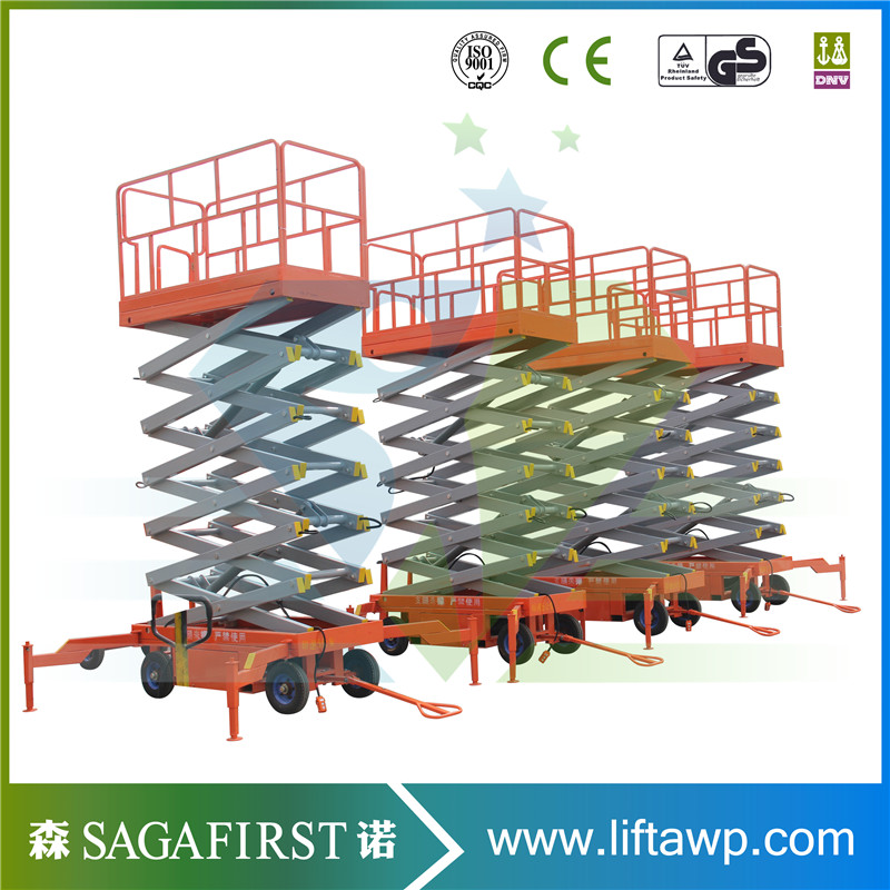 4m To 18m 500kg 2000kg Full Electric Mobile Scissor Lift Aerial Elevated Lift With CE ROHS