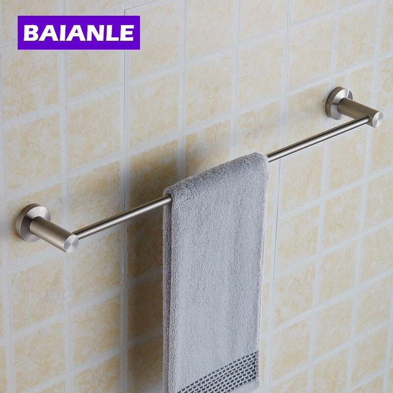 ФОТО Creative Wall Mounted Single Towel Bar Stainless Steel Bathroom Bath Towel Rod