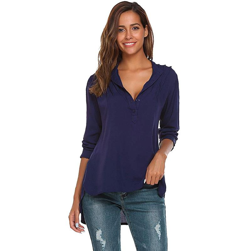 Fashion Women Shirt Long Sleeve With Button Ladies Office Shirt Women Casual Loose Tops Plus Size Female Blusas S-5xl WS3870O