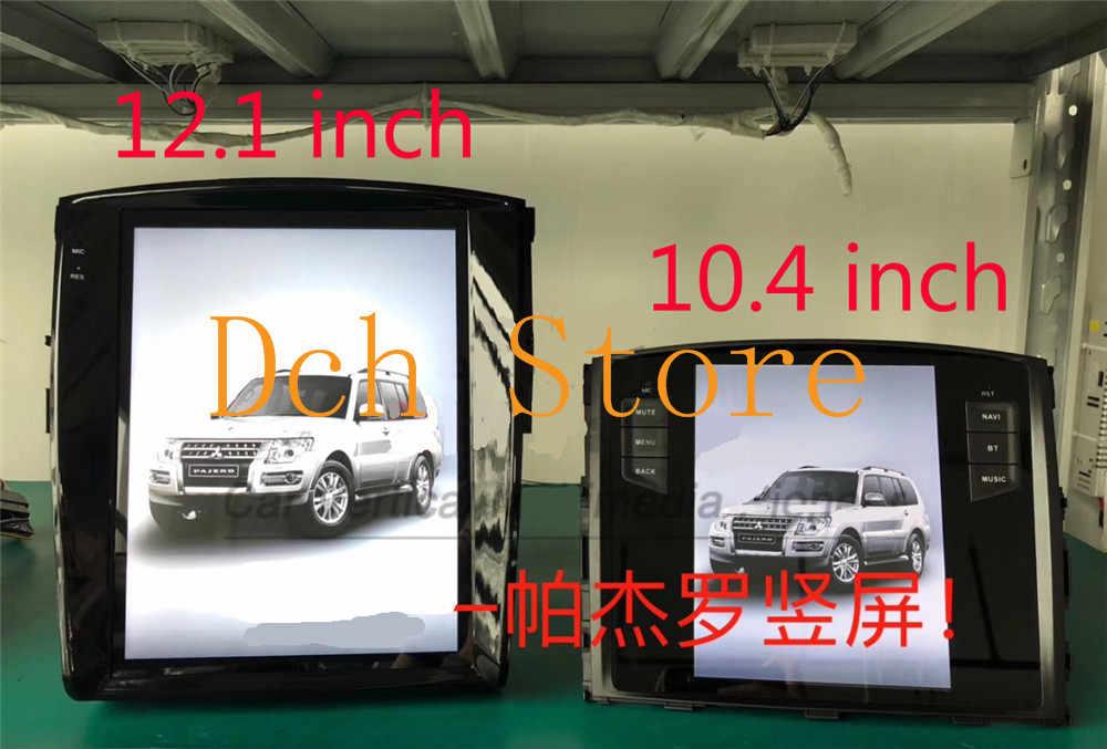 12 1'' vertical Screen Tesla Style Android 7 1 Car DVD GPS Player for  MITSUBISHI pajero V97 V93 2006-2016 radio navigation IPS