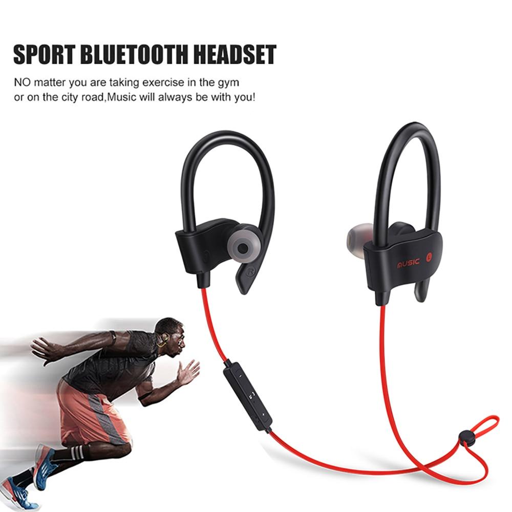 Bluetooth Earphones Wireless Headphones Sport Running Ear Hook Stereo In-Ear Earphone With Microphone For Iphone Samsung Xiaomi stylish in ear earphone w microphone for samsung i9500 i9300 orange
