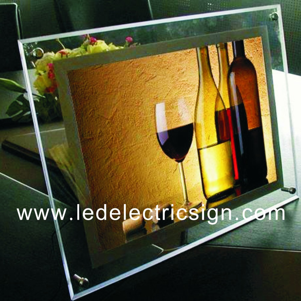 Table top product display - Table Top Led Wine Advertising With Crystal Display Board China Mainland