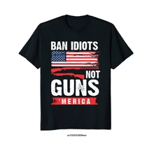 d8e63fdd Funny men t shirt novelty tshirt women 2nd Amendment Ban Idiots Not Guns  Right Arms '