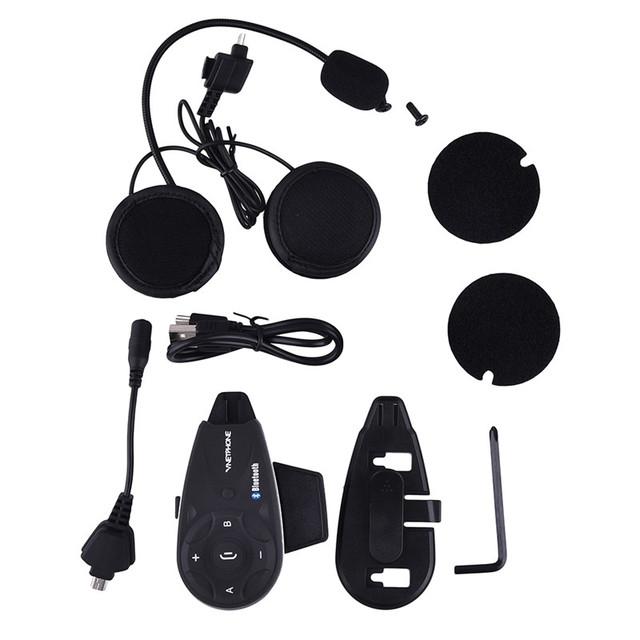 V5 1200 M BT Interphone Bluetooth casco de La Motocicleta intercom headset auriculares Inalámbricos Compatibles Con mp3/GPS/Teléfono para 5 pilotos