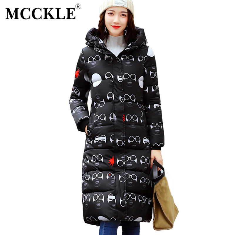 MCCKLE Winter Jacket Hooded Cotton Padded Long Coat Outwear Women Thickening Warm Parka Streetwear Chaquetas Mujer Plus Size mcckle winter jacket with fur collar hooded cotton padded long puffer coat outwear women fashion thickening warm parka overcoat