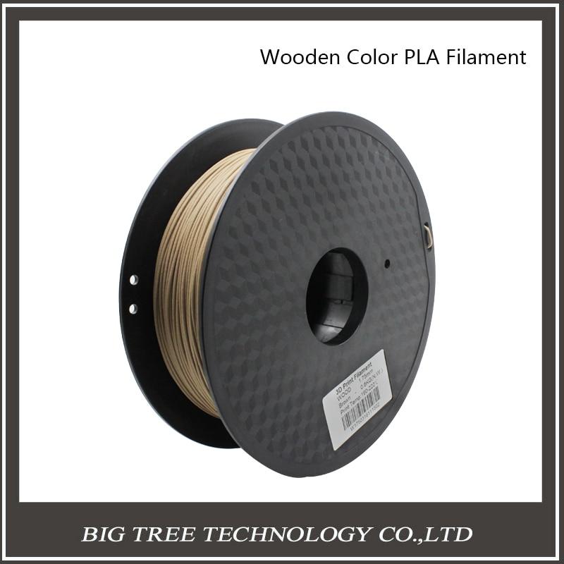 BIQU 3D Printer Filament Wood material 0.8kg 1.75mm  PLA PA PVA HIPS for MakerBot Flash Forge  biqu new spool filament mount rack bracket for pla abs filament 3d printer