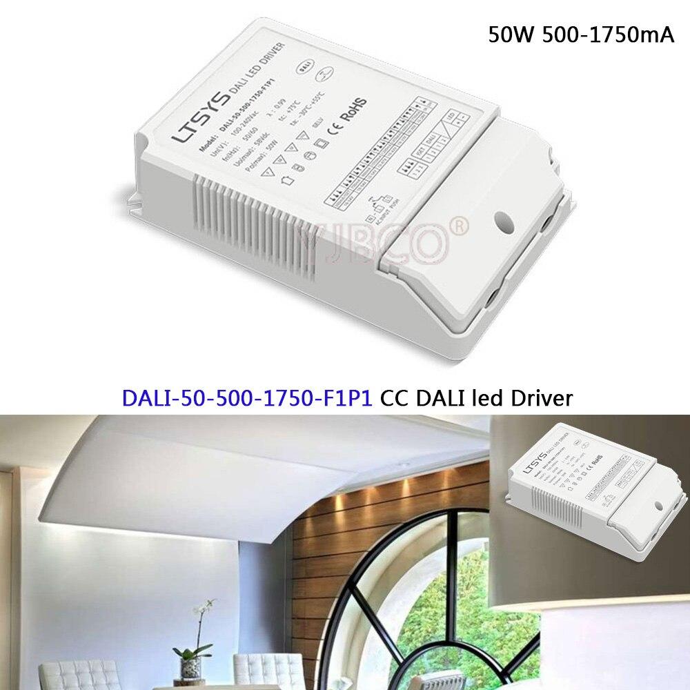 CC led Dimming Driver;DALI-50-500-1750-F1P1;AC100-240V input;50W 500-1750mA CC DALI Driver Push DIM led power недорго, оригинальная цена
