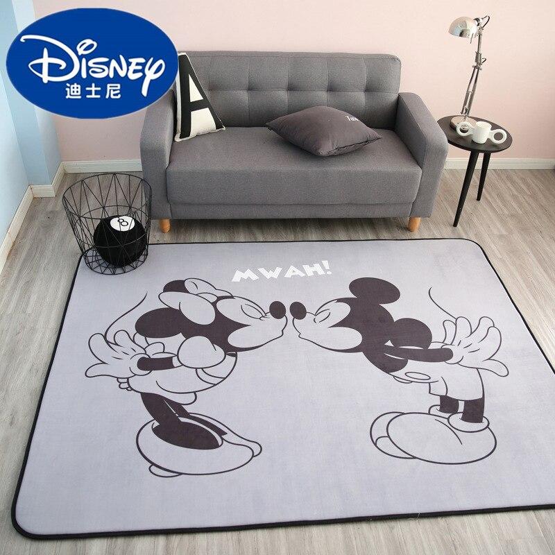 Disney Mickey Minnie tapis de souris enfant bébé ramper jeu tapis corail polaire tapis intérieur bienvenue doux quatre saisons enfants tapis cadeau