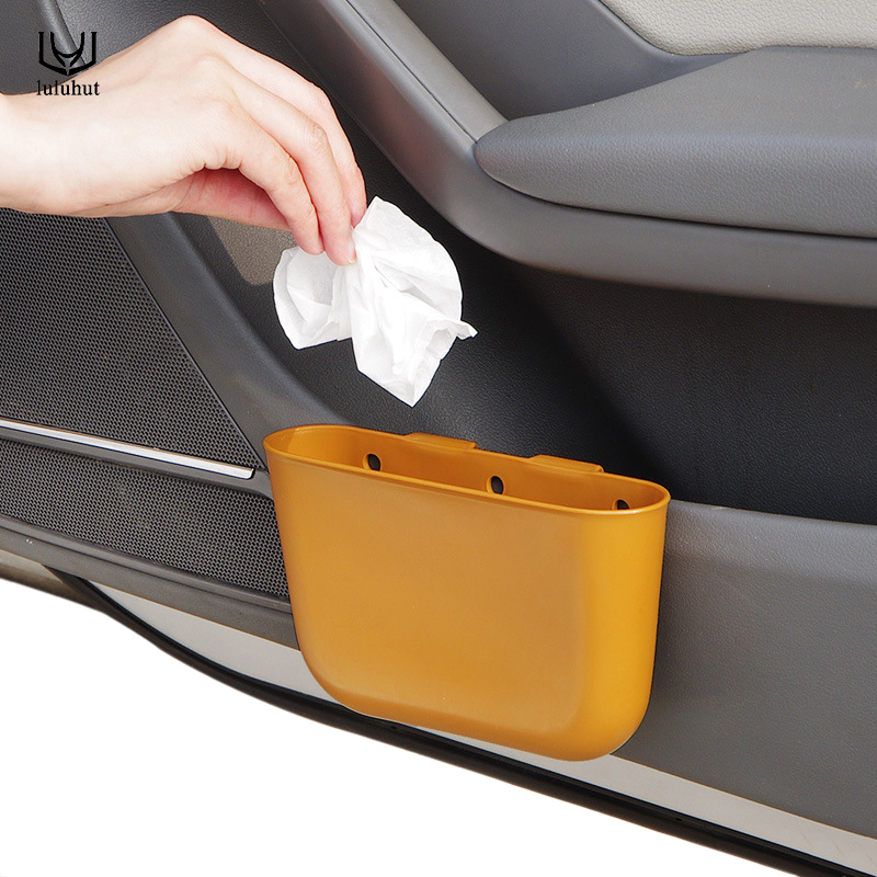 Luluhut Hanging Car Storage Box Waste Bin At Back Of Seat Basket Space Saver Accessories Organizer Sundries